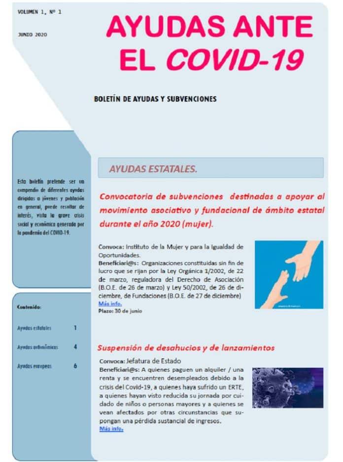 Boletín de ayudas ante el Covid-19