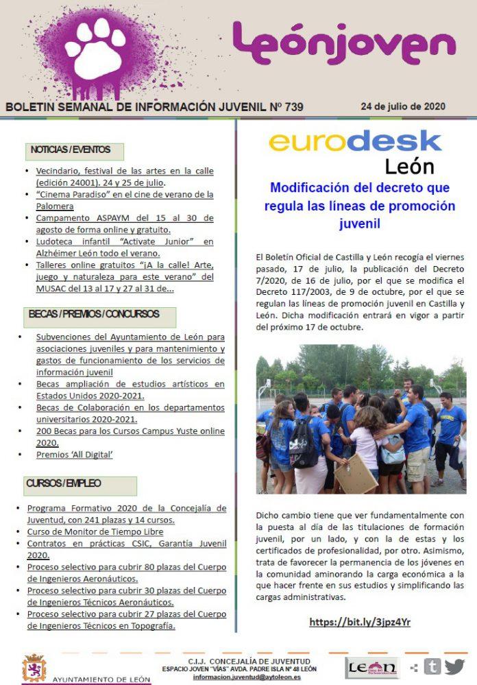 Boletín semanal de información juvenil nº 739