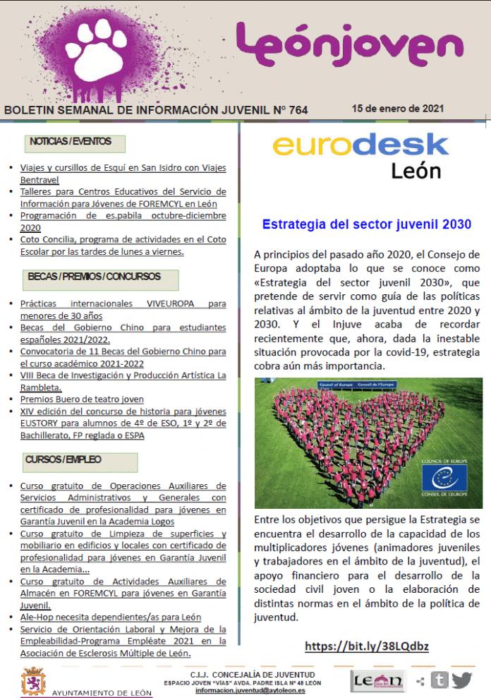 Boletín semanal de información juvenil nº 764 de 15 de enero